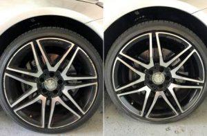 Wheel repairs Adelaide - before & after